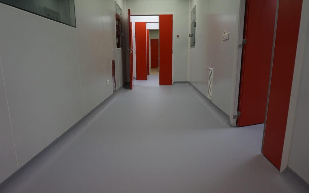 Pavimentos continuos en laboratorios farmacéuticos