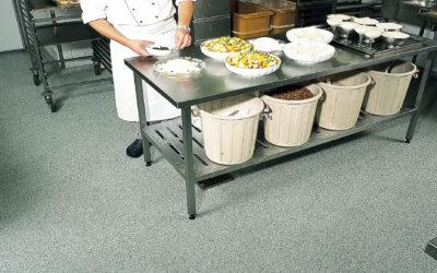 Suelo para cocina industrial