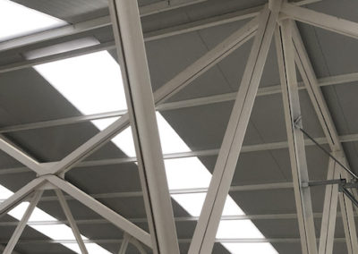 Estructura metálica con protección ignífuga